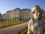 Zehn Sphingen im Park, Belvedere Wien