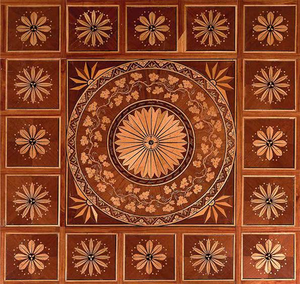 Fußboden im Wedgewood-Zimmer in der Albertina, Wien