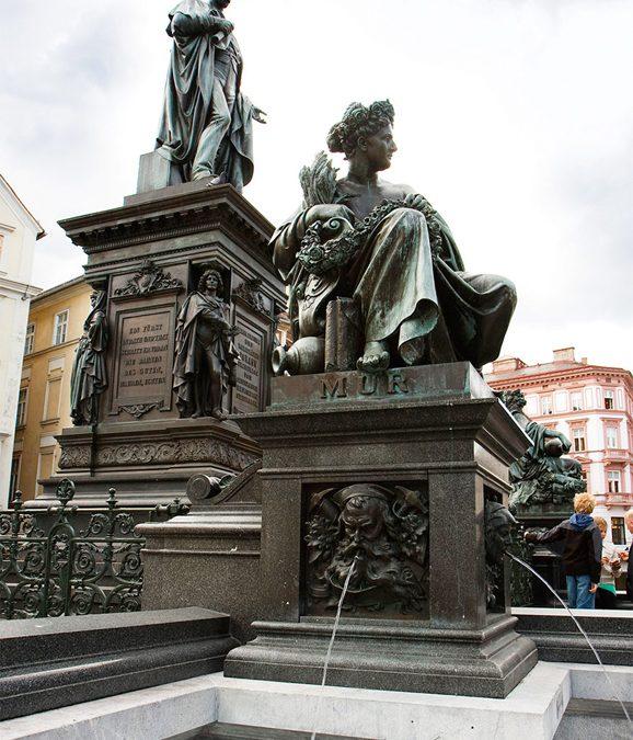 Erzherzog-Johann-Brunnen am Grazer Hauptplatz