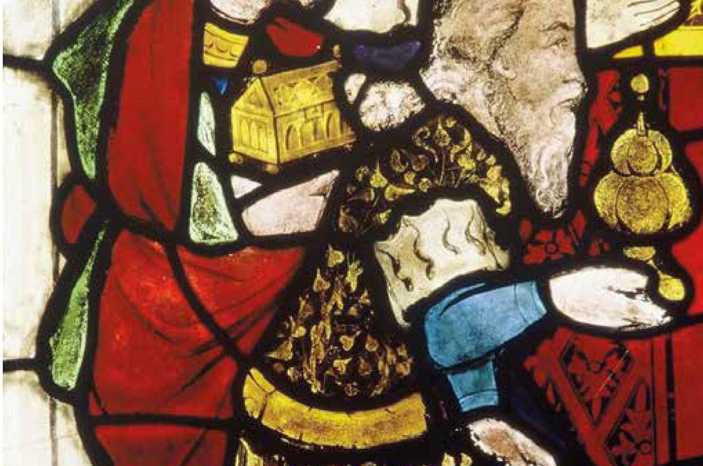 Glasfenster im Chorquadrat Filialkirche St. Nikolaus, Langenlois