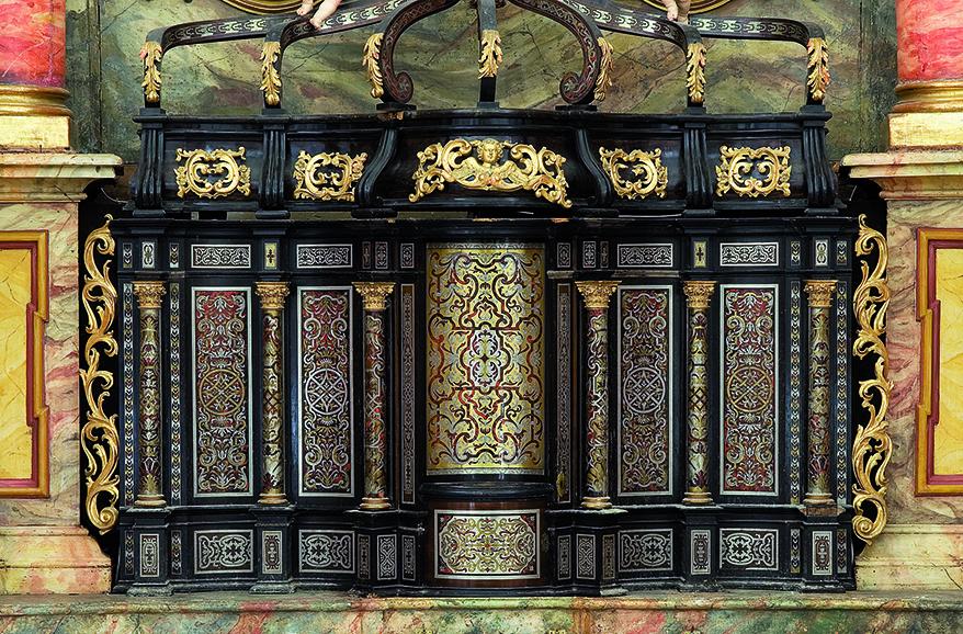 Tabernakel in Boulle-Technik, Pfarrkirche St. Johann bei Herberstein
