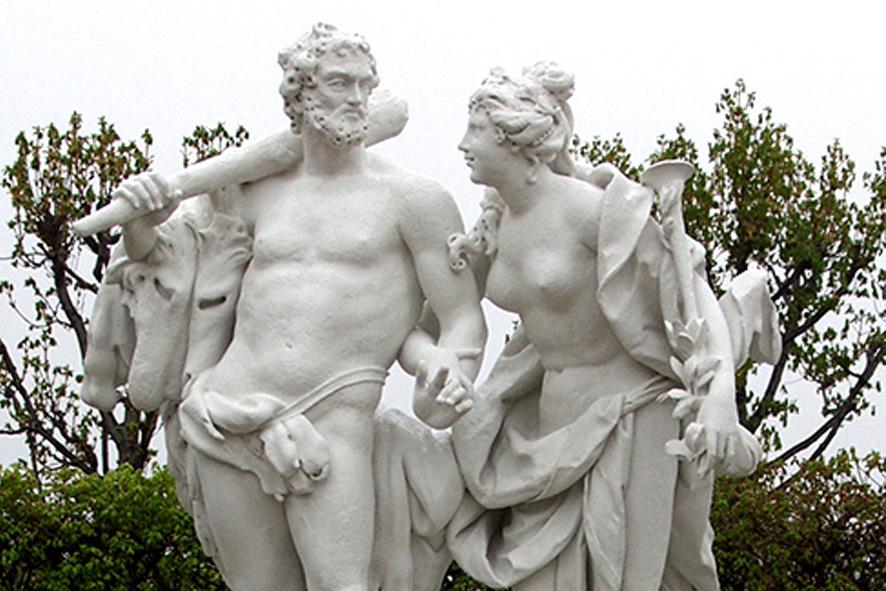 Statuengruppe Herkules und Kalliope Belvedere, Wien
